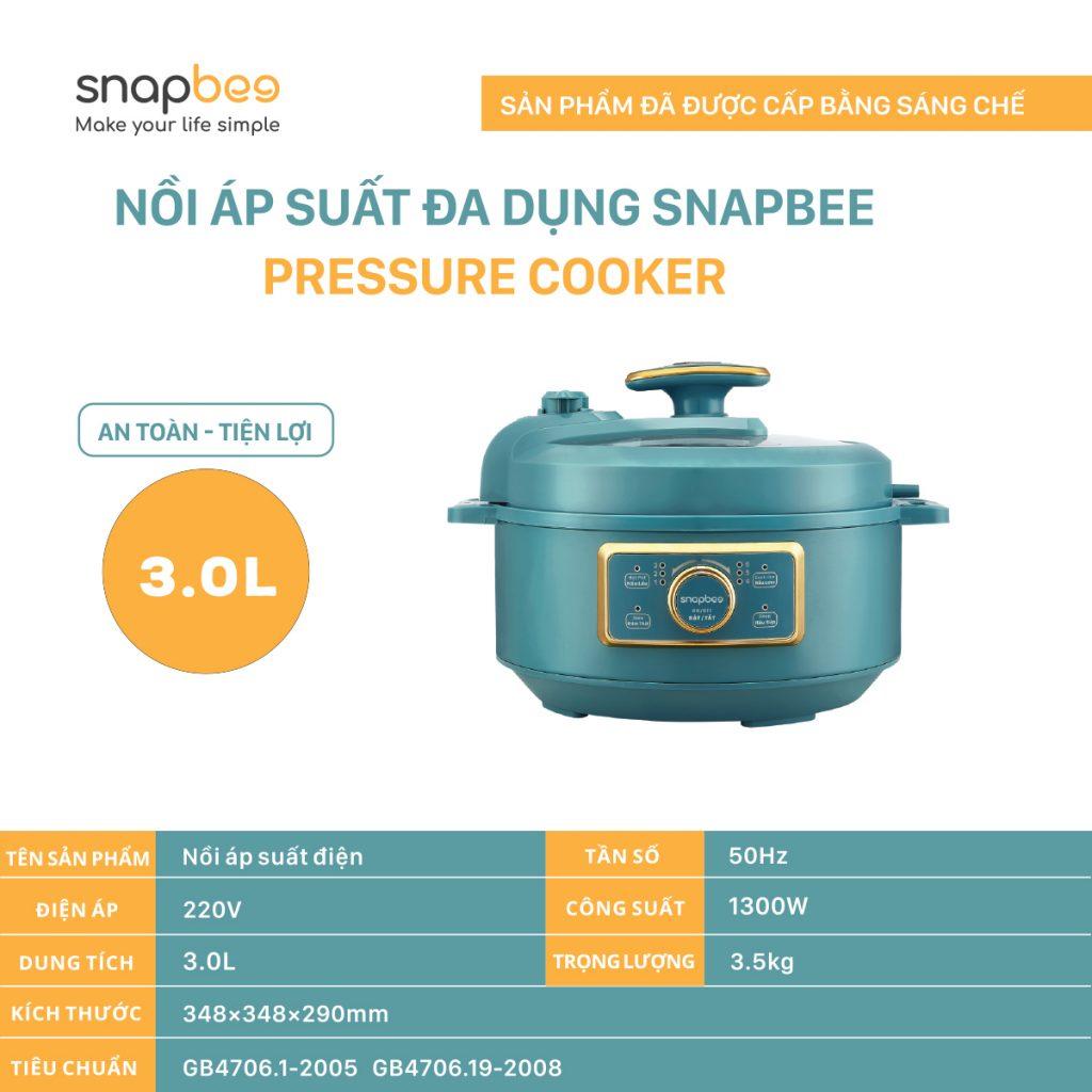 Nồi áp suất SnapBee - nồi áp suất đa dụng SnapBee